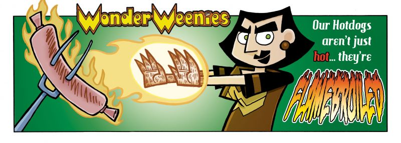 Wonder Weenies :: Okay... one more fake ad before moving on. These non continuity weeks tend to come in twos anyhow.