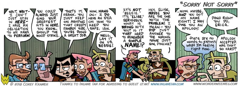 Wonder Weenies :: I nearly went with 'Close But No Cigar' as the title for today's strip... because I am a huge.