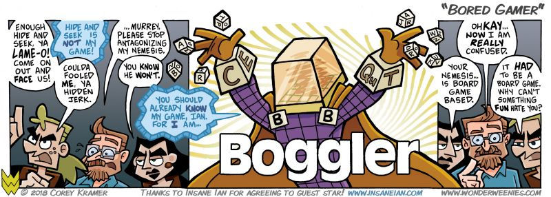 Wonder Weenies :: Personally, I am an avid collector of board games and Boggle is one of my favorites. I have been waiting to introduce this character for a long time!