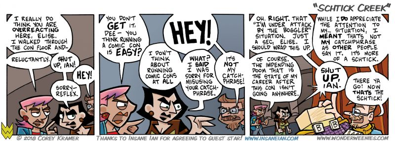 Wonder Weenies :: I am so glad Ian has a good sense of humor... I strive to write him 'on brand' as best I can and sometimes I feel bad about that. I do send him every comic for approval before posting it, just so you know.